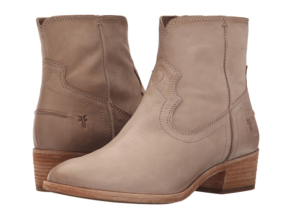 Frye - Ray Seam Short (Cement Soft Oiled Leather) Cowboy Boots