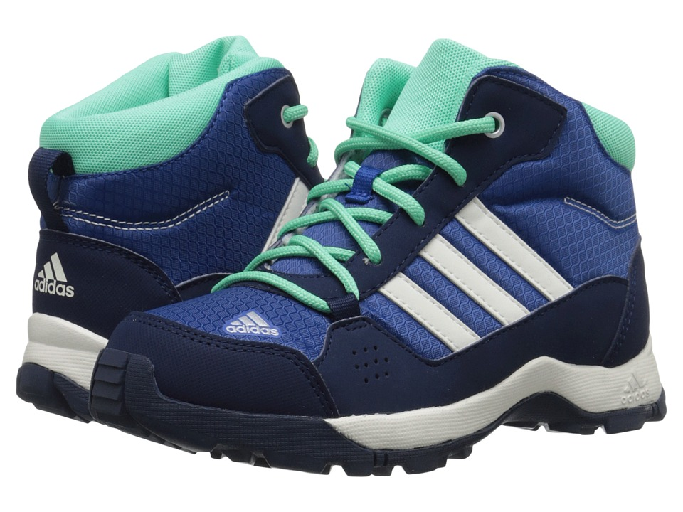 adidas Outdoor Kids - Hyperhiker (Little Kid/Big Kid) (Equipment Blue/Chalk White/Green Glow) Kids Shoes