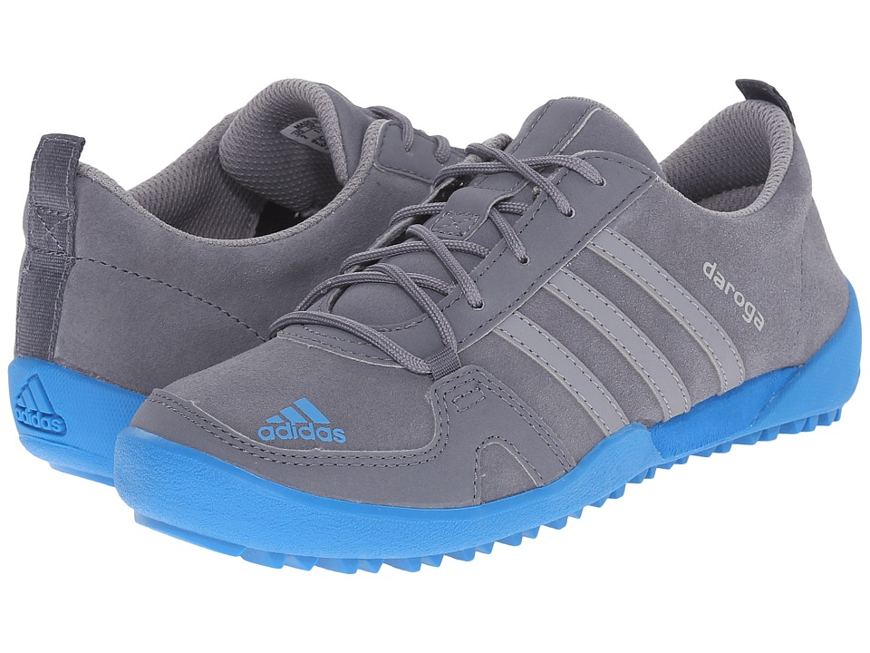 adidas Outdoor Kids Daroga Leather (Little Kid/Big Kid) (Onix/Grey/Shock Blue) Boys Shoes