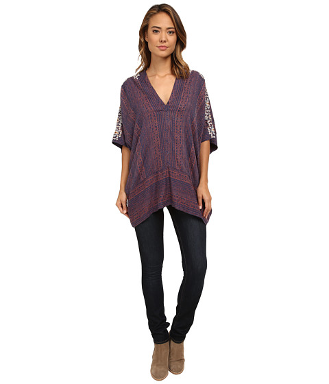 Free People - Tribal Beat Tunic (Indigo Combo) Women's Blouse