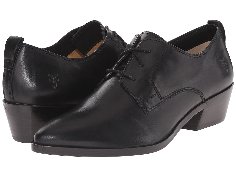 Frye - Reese Oxford (Black Smooth Oiled Veg) Women's 1-2 inch heel Shoes