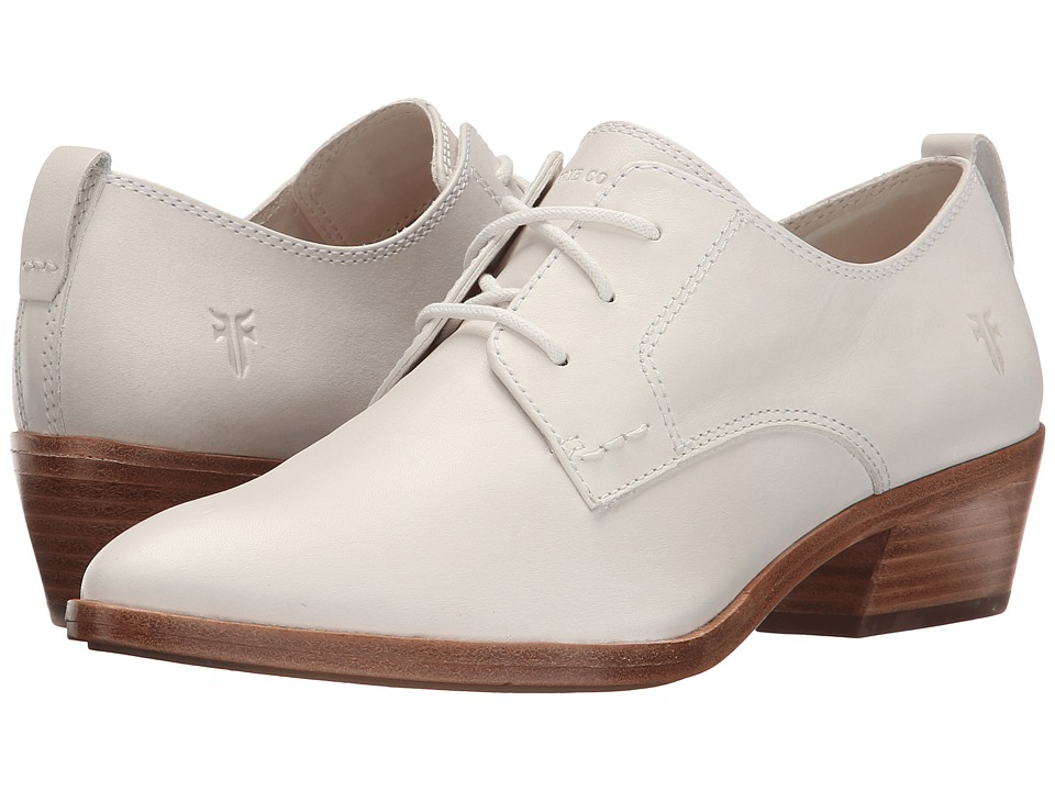 Frye - Reese Oxford (White Smooth Oiled Veg) Women's 1-2 inch heel Shoes