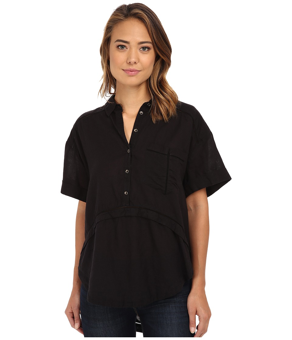 Free People - Weekend Escape Top (Black) Women's Clothing