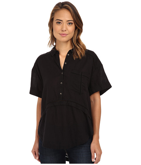 Free People - Weekend Escape Top (Black) Women