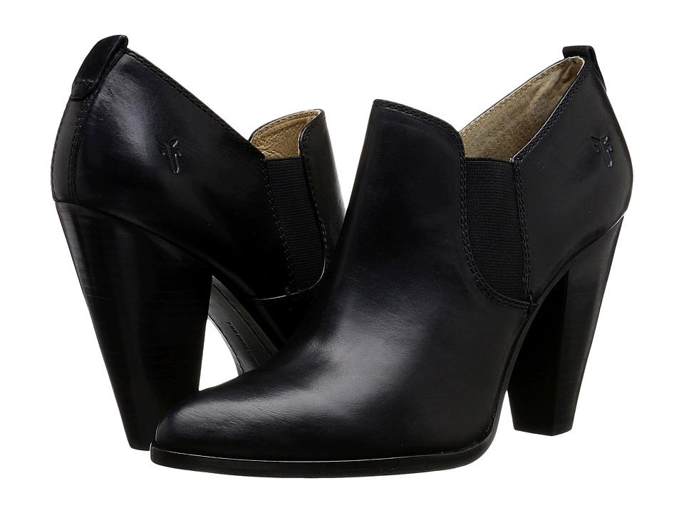 Frye - Remy Slip-On (Black Smooth Oiled Veg) High Heels