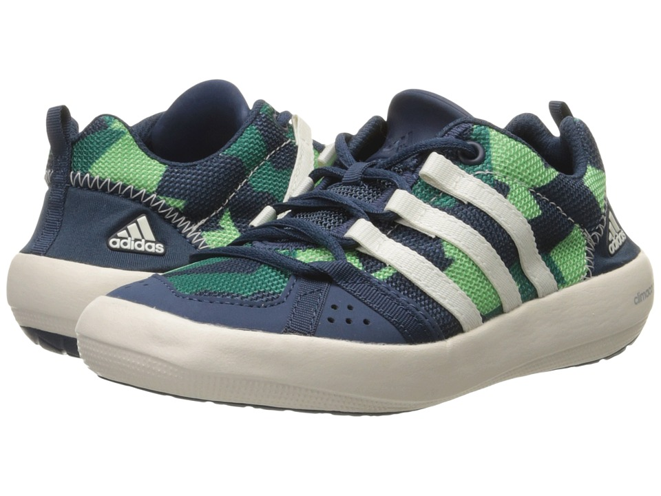 adidas Outdoor Kids - Climacool Boat Lace (Little Kid/Big Kid) (Mineral Blue/Chalk White/Green Glow) Kid's Shoes