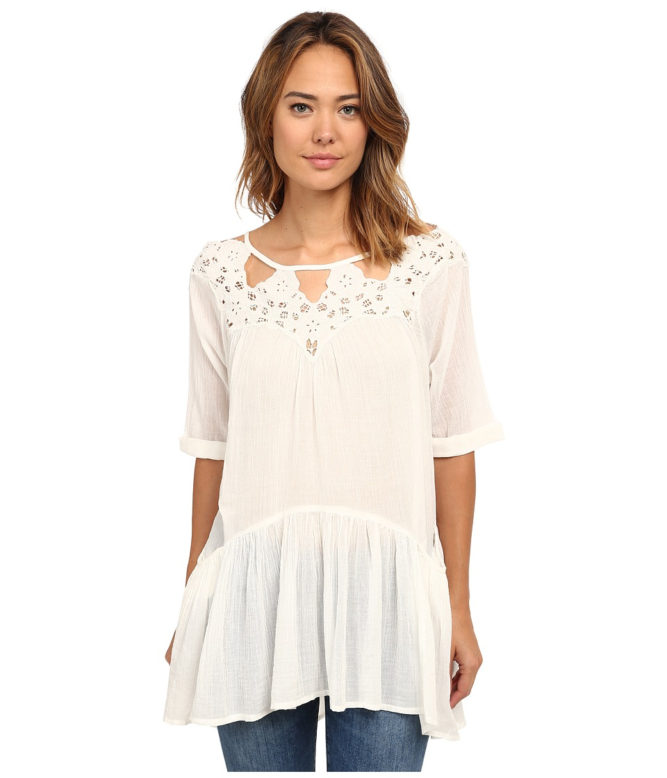 Free People - Sun and Moon Tunic (Ivory) Women's Dress