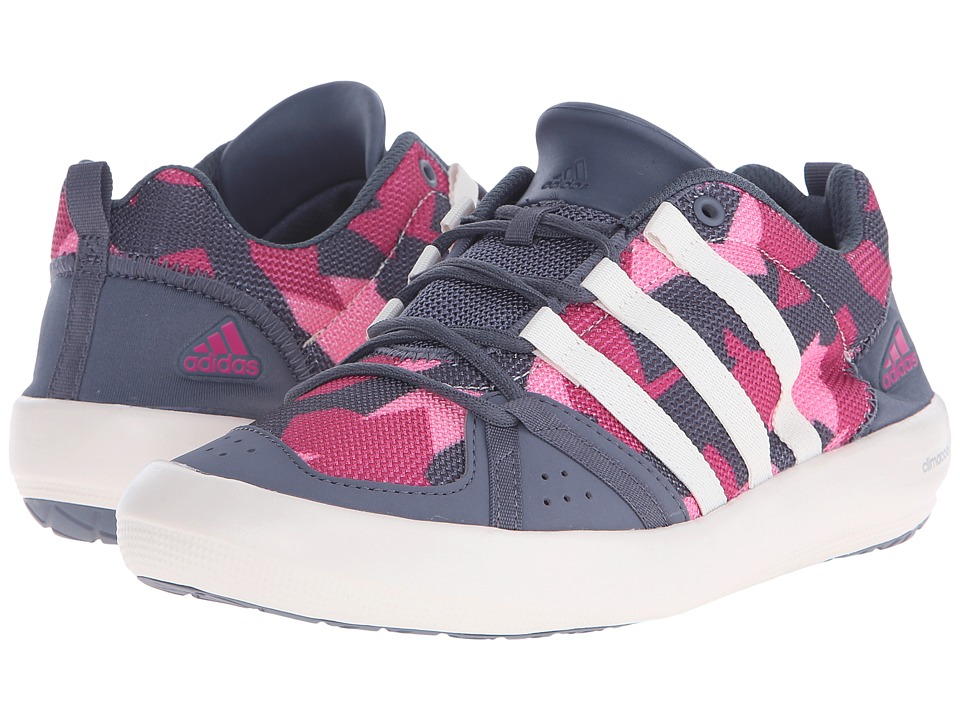 adidas Outdoor Kids - Climacool Boat Lace (Little Kid/Big Kid) (Onix/Chalk White/Equipment Pink) Girls Shoes