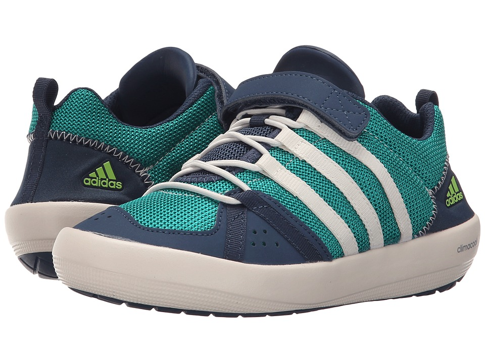 adidas Outdoor Kids - Climacool Boat CF (Little Kid/Big Kid) (Equipment Green/Chalk White/Mineral Blue) Boys Shoes