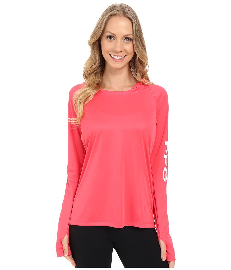 Columbia - Tidal Tee Hoodie (Bright Geranium) Women's Sweatshirt