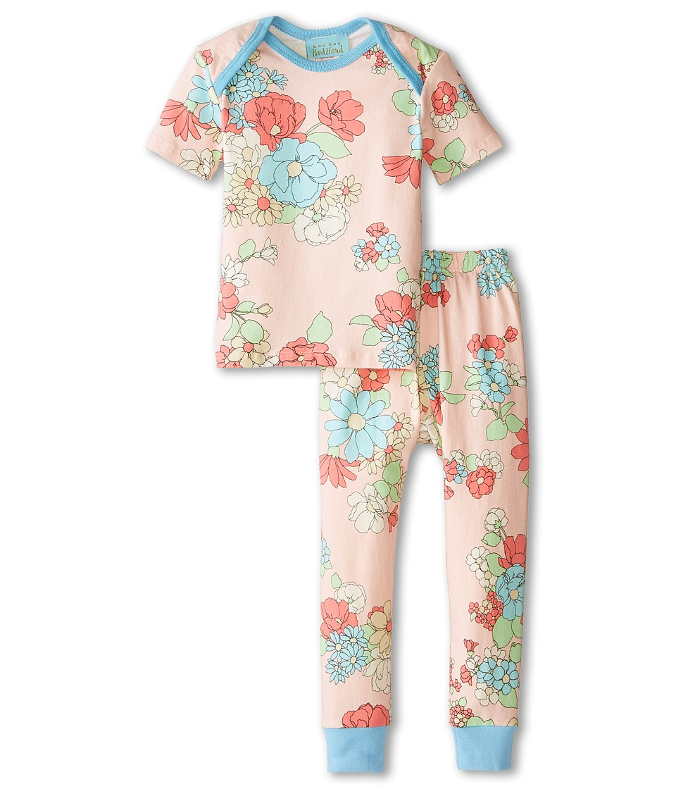 BedHead Kids - Short Sleeve Tee Pant Set (Infant) (Le Jardin) Girl
