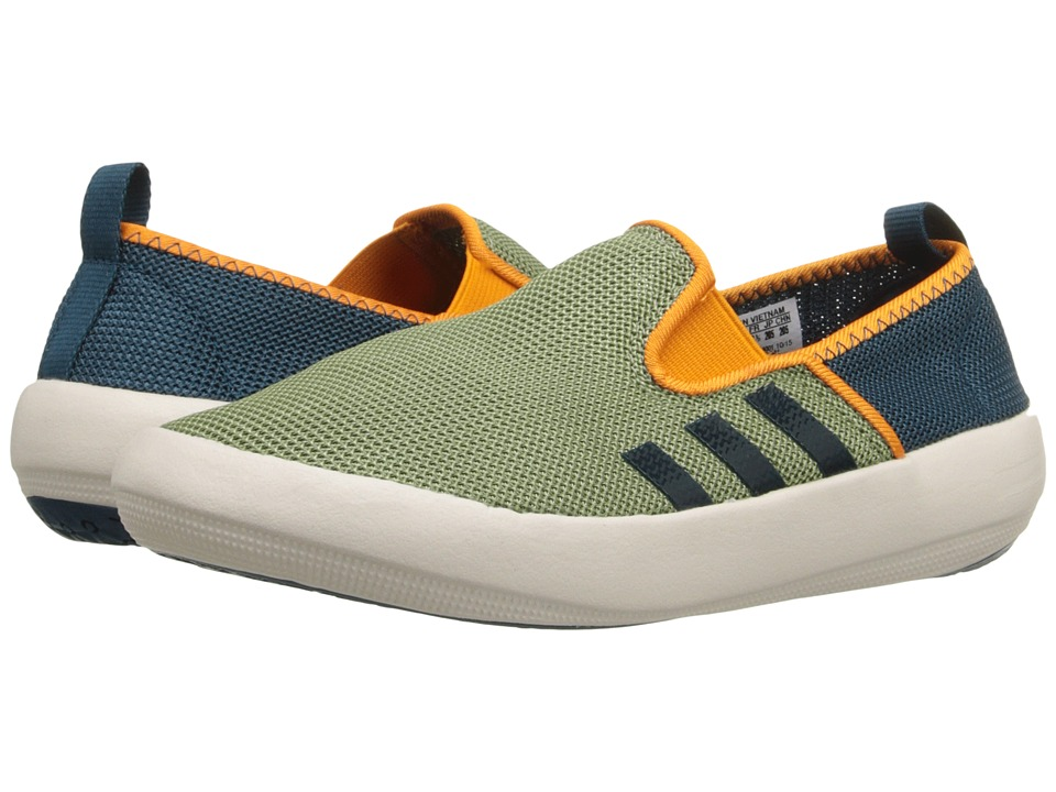 adidas Outdoor Kids Boat Slip-On (Little Kid/Big Kid) (Shift Olive/Mineral/Equipment Orange) Boys Shoes