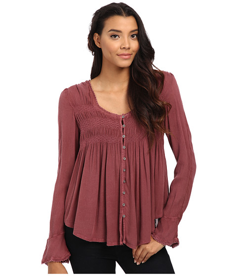 Free People - Blue Bird Smocked Top (Mars Red) Women