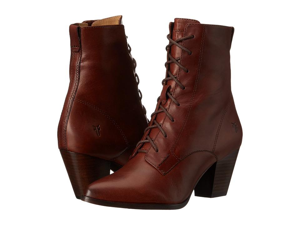Frye Renee Lace Up (Redwood Smooth Oiled Veg) Women