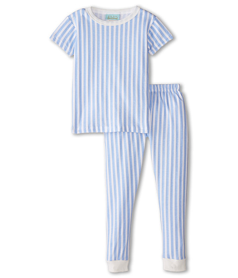 BedHead Kids - Short Sleeve Kids Snug PJ (Toddler/Little Kids) (Blue 3D Stripe) Boy's Pajama Sets