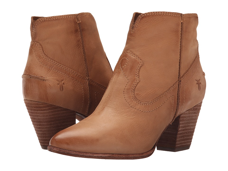 Frye - Renee Seam Short (Camel Soft Oiled Leather) Cowboy Boots