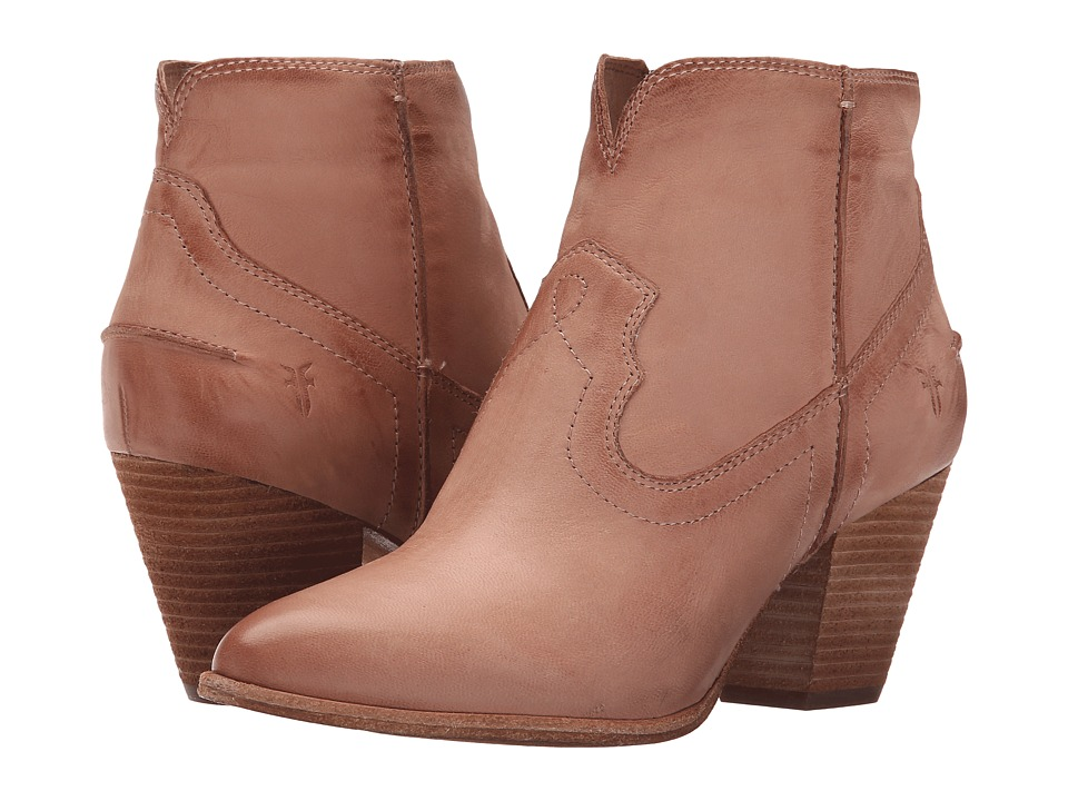 Frye - Renee Seam Short (Dusty Rose Soft Oiled Leather) Cowboy Boots