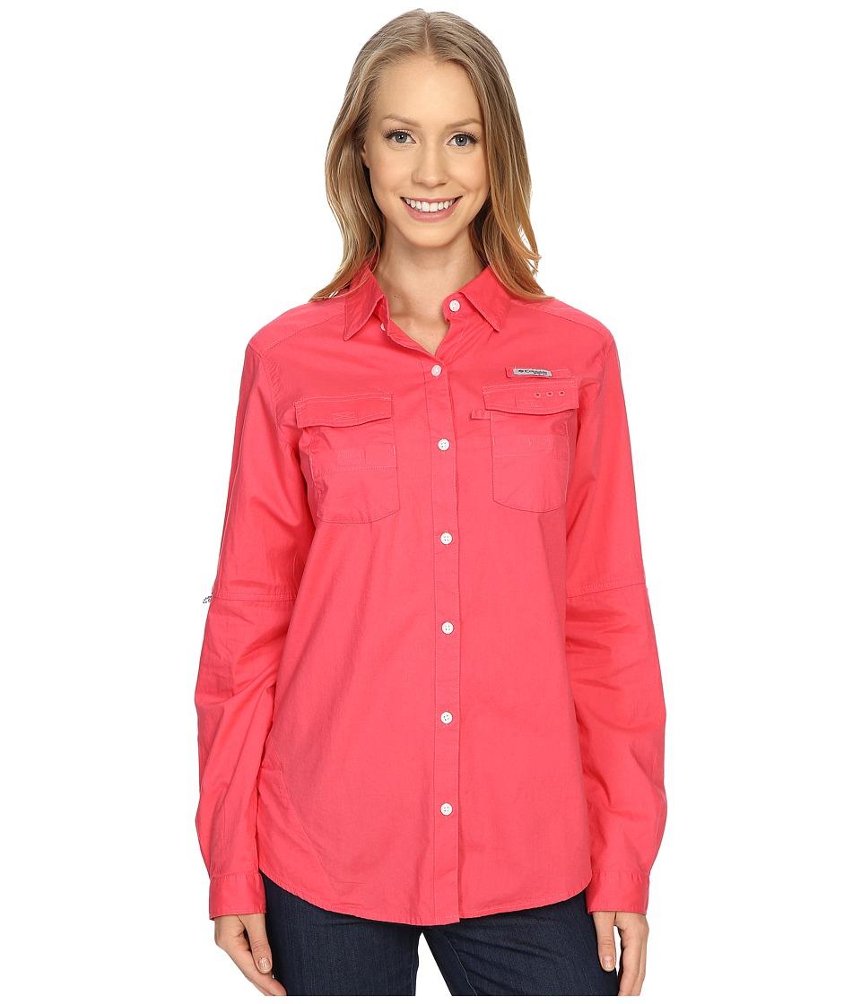 Columbia - Bonehead II L/S Shirt (Bright Geranium) Women's Long Sleeve Button Up