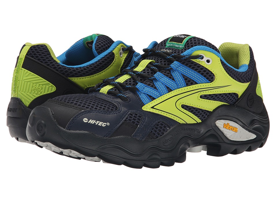 Hi-Tec - V-Lite Flash Force Low I-Shield Waterproof (Navy/Limoncelllo/Aqua) Men