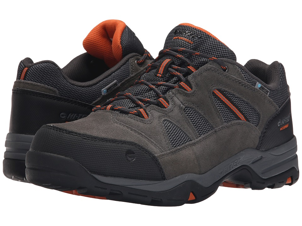 Hi-Tec - Bandera II Low Waterproof (Charcoal/Graphite/Burnt Orange) Men's Shoes