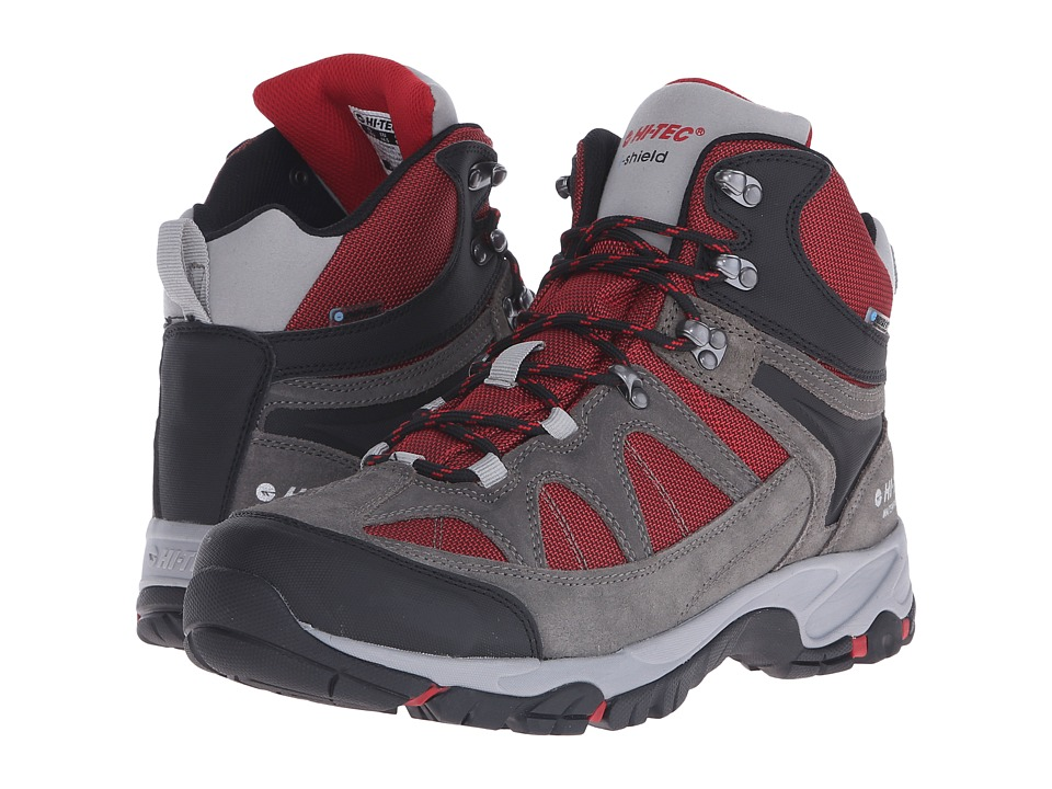 Hi-Tec - Altitude Lite I-Shield Waterproof (Charcoal/Cool Grey/Red) Men's Hiking Boots
