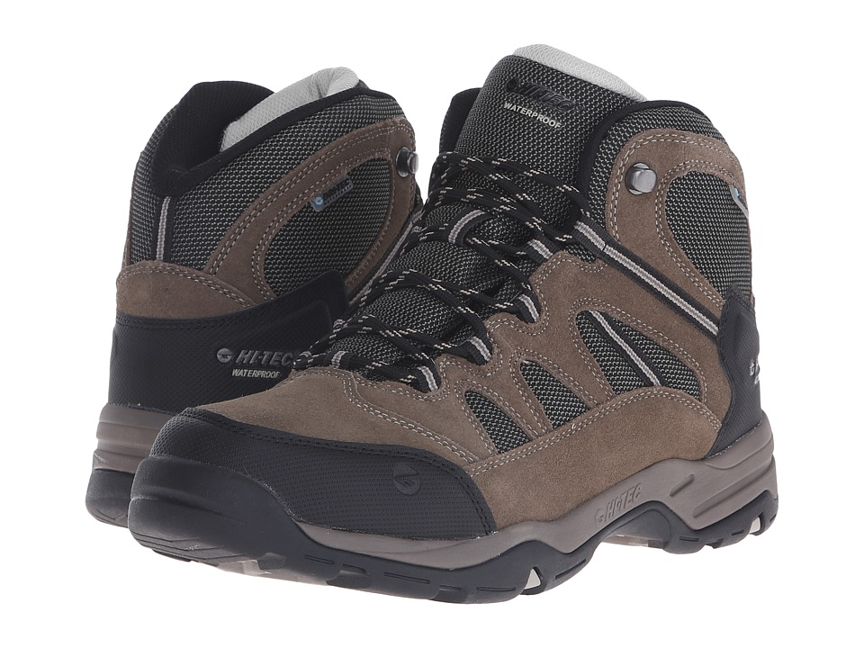 Hi-Tec - Bandera II Mid Waterproof (Smokey Brown/Olive/Snow) Men's Boots