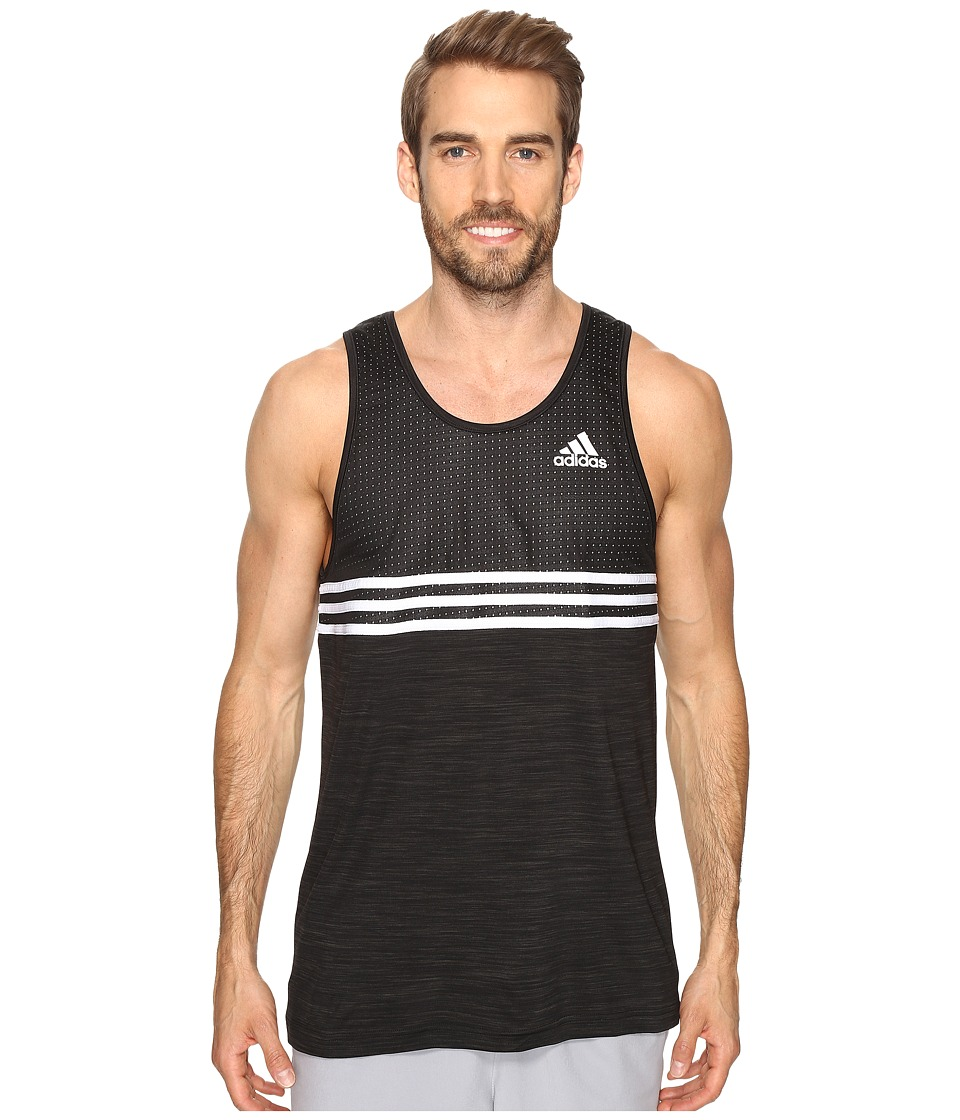 adidas - Double Up Tank Top (Black/Black/White) Men's Sleeveless