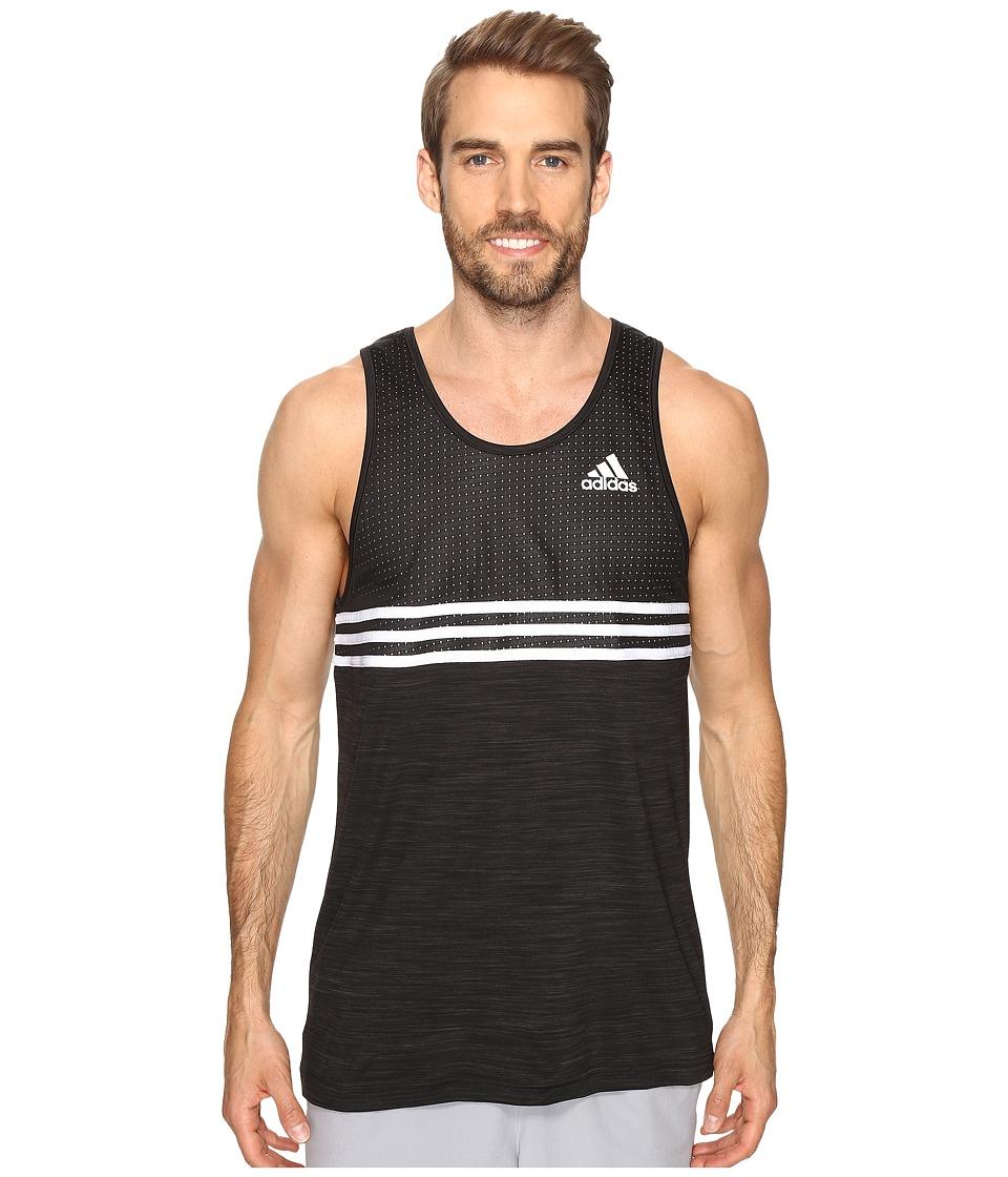 adidas - Double Up Tank Top (Black/Black/White) Men's Sleeveless