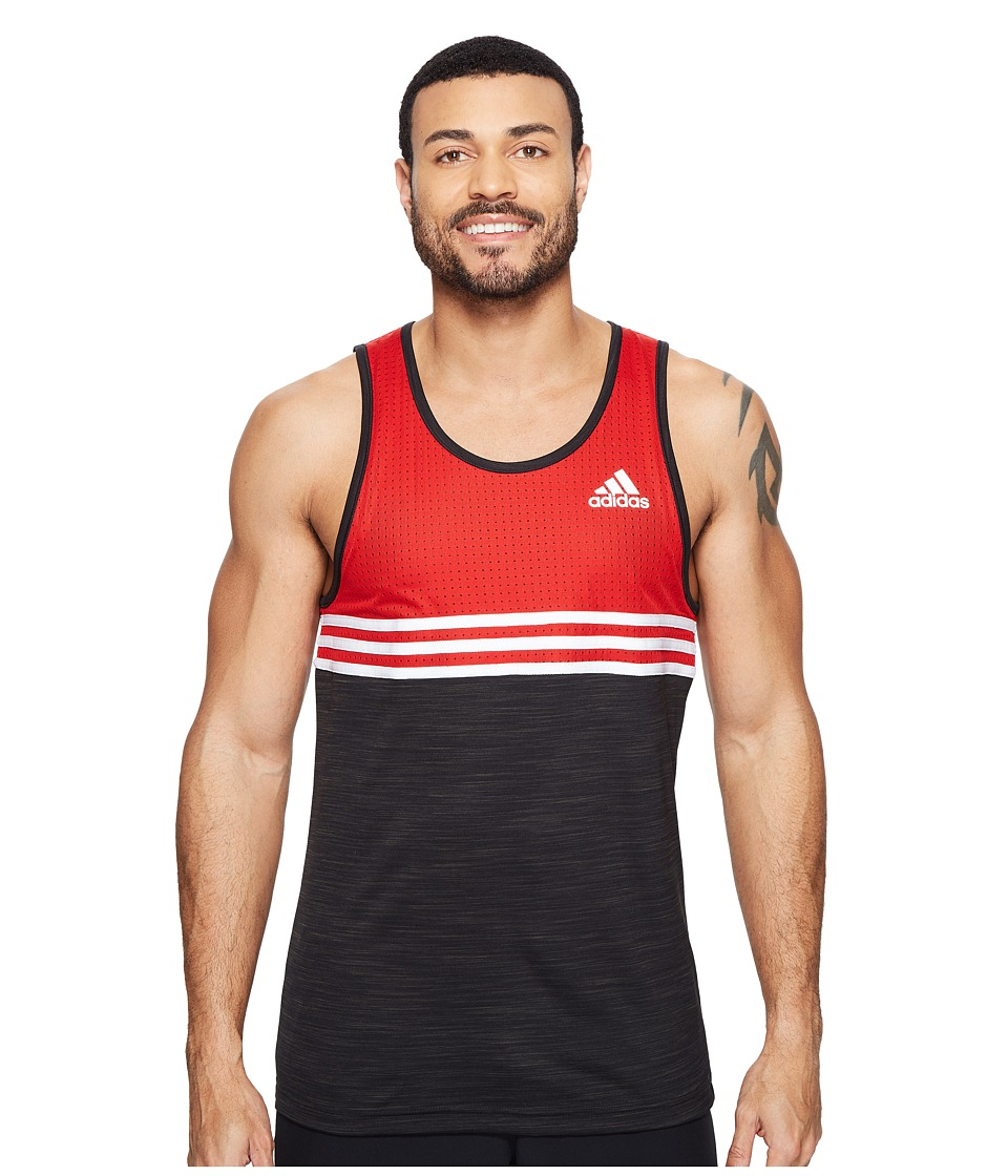 adidas - Double Up Tank Top (Scarlet/Black/White) Men's Sleeveless