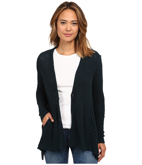 Free People - Shark Hem Cardi (Deep Sea Blue) Women
