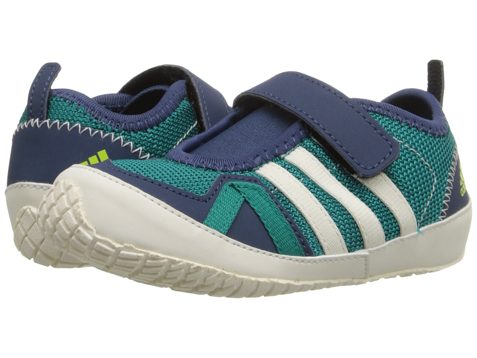 adidas Outdoor Kids - Boat Plus AC (Toddler) (Equipment Green/Chalk White/Mineral Blue) Boy's Shoes