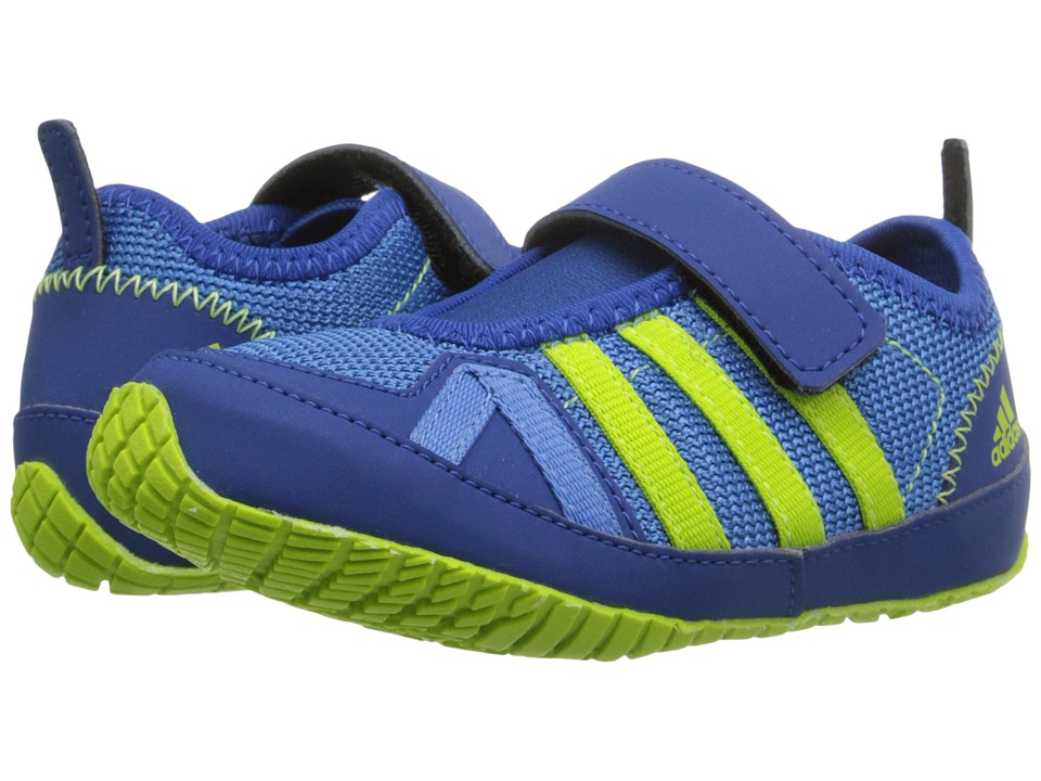 adidas Outdoor Kids - Boat Plus AC (Toddler) (Super Blue/Semi Solar Slime/Equipment Blue) Boy