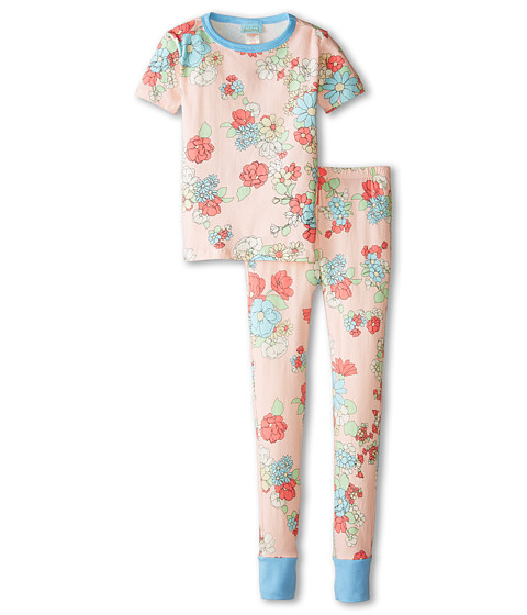 BedHead Kids - Short Sleeve Tween Snug PJ (Big Kids) (Le Jardin) Girl