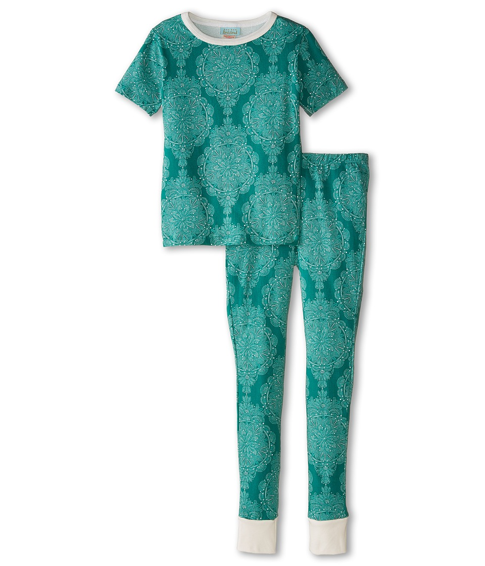 BedHead Kids - Short Sleeve Tween Snug PJ (Big Kids) (Jade Mandala) Girl