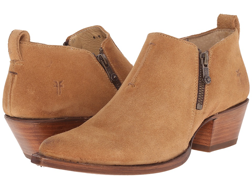 Frye - Sacha Moto Shootie (Sand Suede) Women's Pull-on Boots