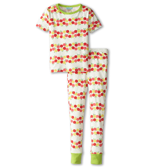 BedHead Kids - Short Sleeve Tween Snug PJ (Big Kids) (Rows of Roses) Girl