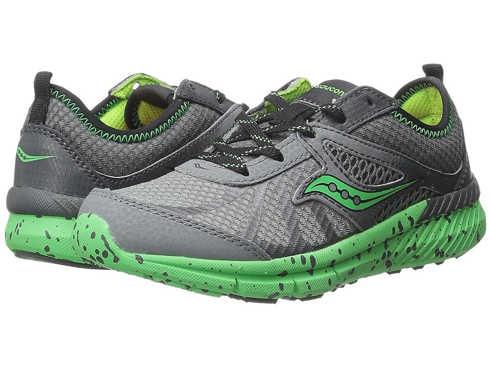 Saucony Kids Volt (Little Kid) (Grey/Green) Boys Shoes