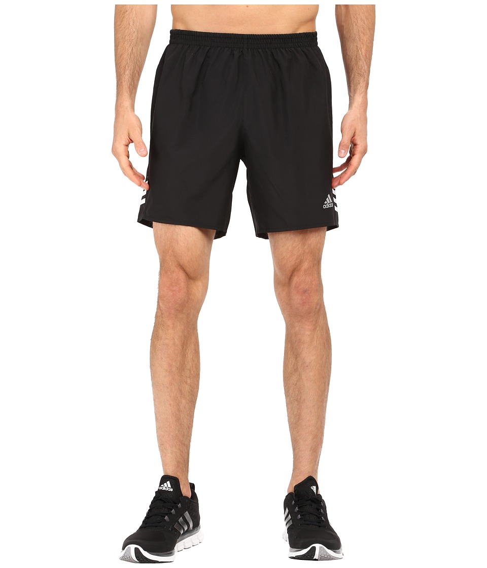 adidas - Response 7 Shorts (Black/White/Matte Silver) Men's Workout