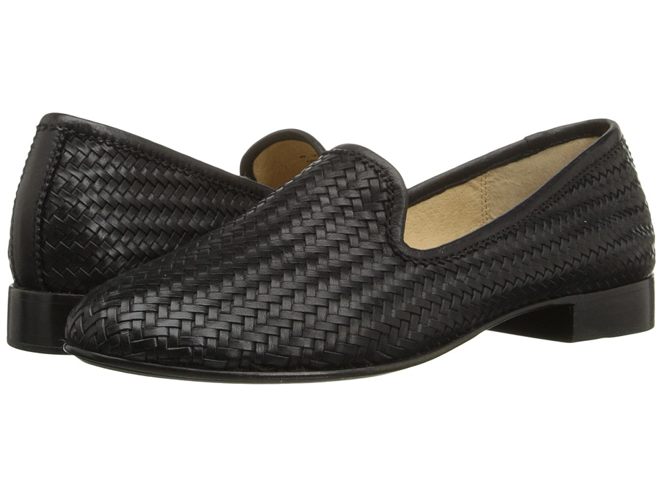 Frye - Tracy Woven Slipper (Black Woven Soft Full Grain) Women's Slip on Shoes