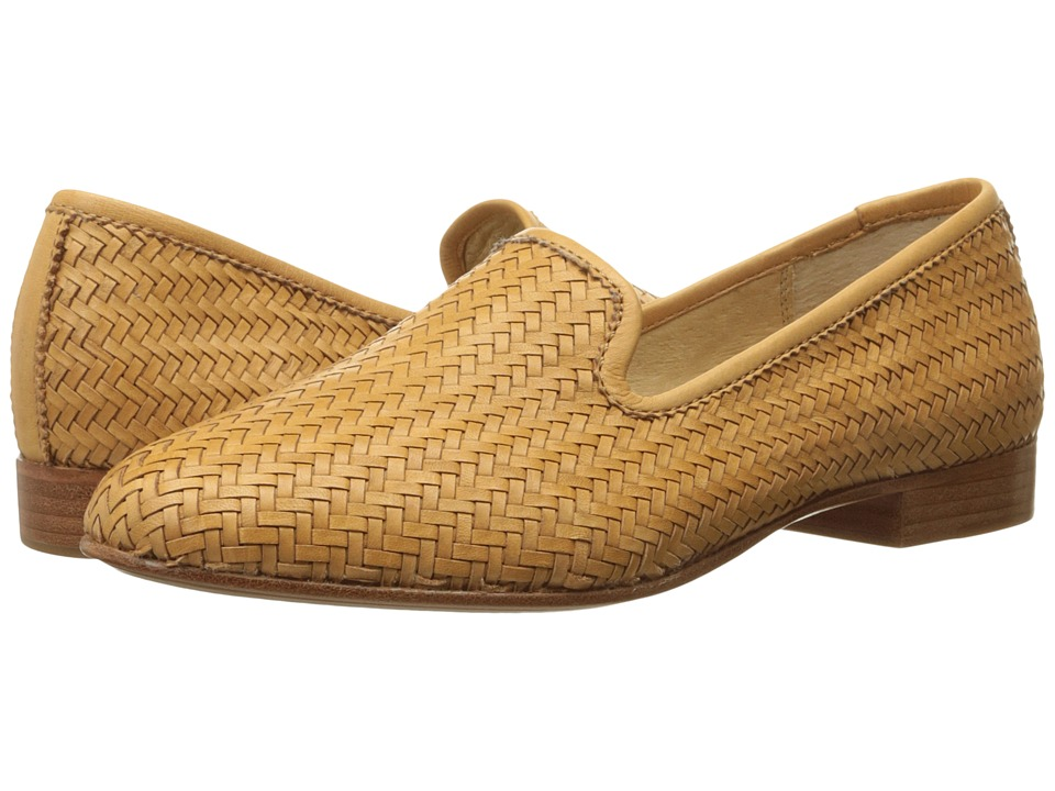 Frye - Tracy Woven Slipper (Tan Woven Soft Full Grain) Women's Slip on Shoes
