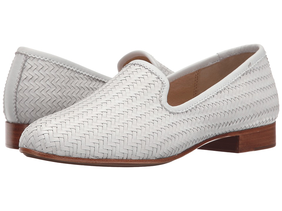 Frye - Tracy Woven Slipper (White Woven Soft Full Grain) Women's Slip on Shoes