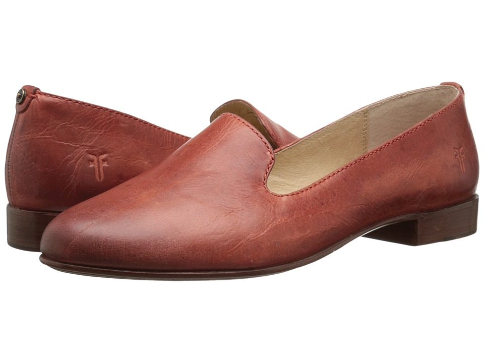 Frye - Tracy Smoking Slipper (Apricot Antique Pull Up) Women's Slip on Shoes