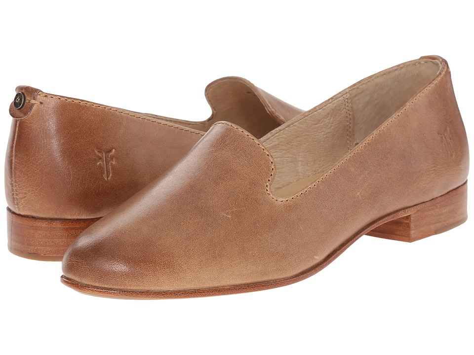 Frye - Tracy Smoking Slipper (Beige Antique Pull Up) Women's Slip on Shoes