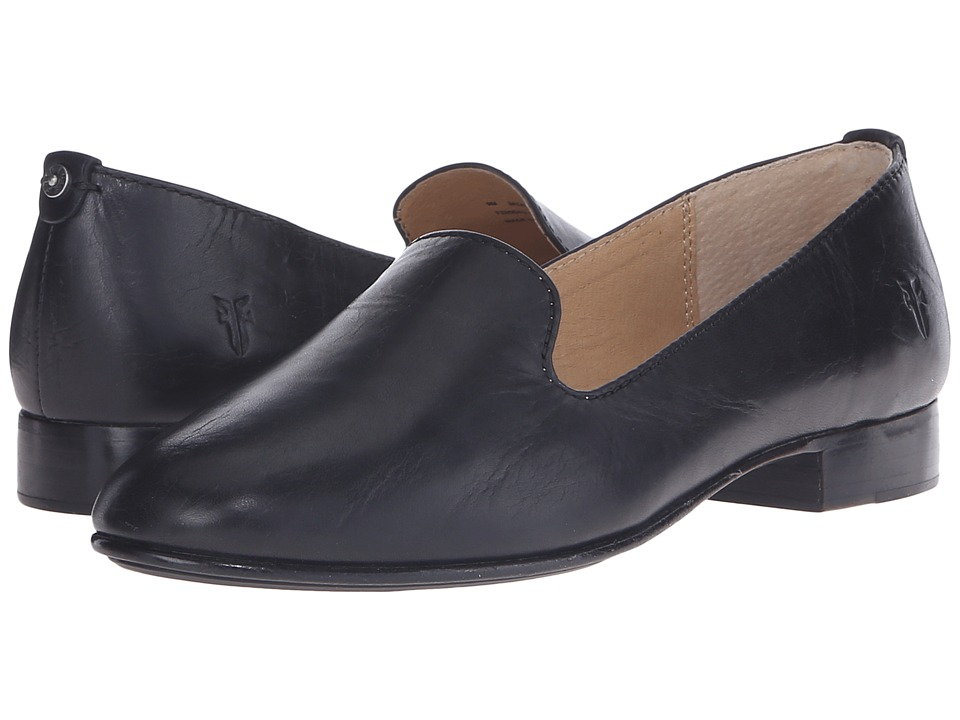 Frye - Tracy Smoking Slipper (Black Antique Pull Up) Women's Slip on Shoes