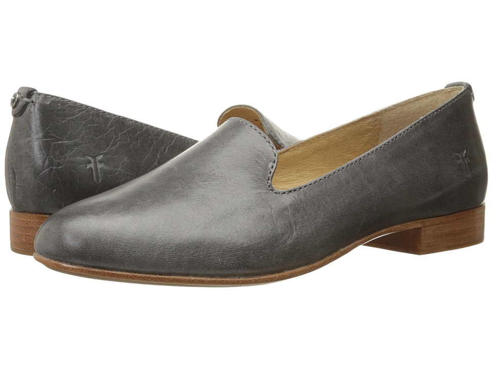 Frye - Tracy Smoking Slipper (Pewter Antique Pull Up) Women's Slip on Shoes