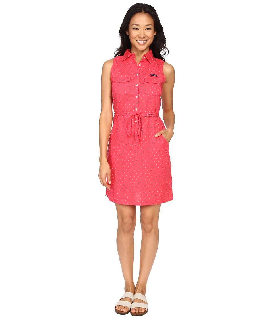 Columbia - Super Bonehead II Sleeveless Dress (Bright Geranium Printed Polka Dot) Women's Dress
