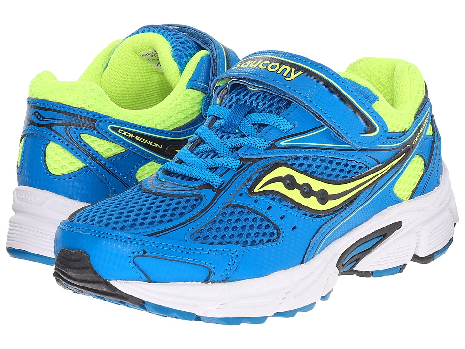 Saucony Kids - Cohesion 8 A/C (Big Kid) (Blue/Citron) Boys Shoes