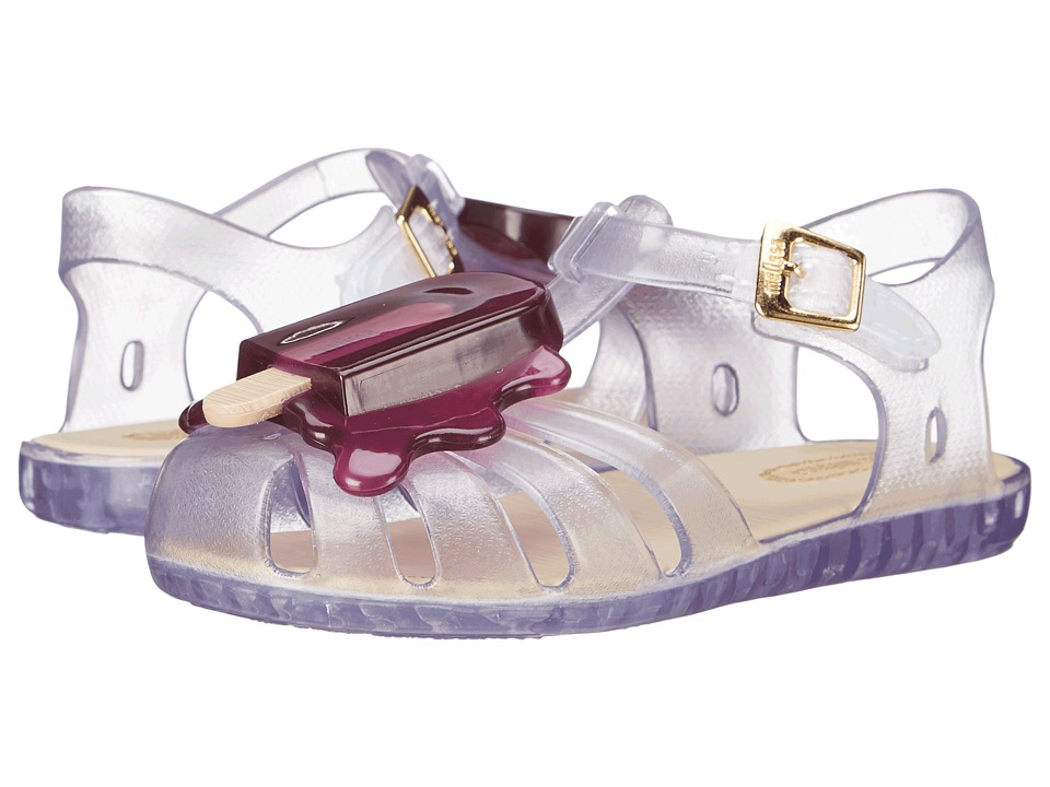 Mini Melissa - Aranha VIII (Toddler) (Clear/Purple) Girl's Shoes