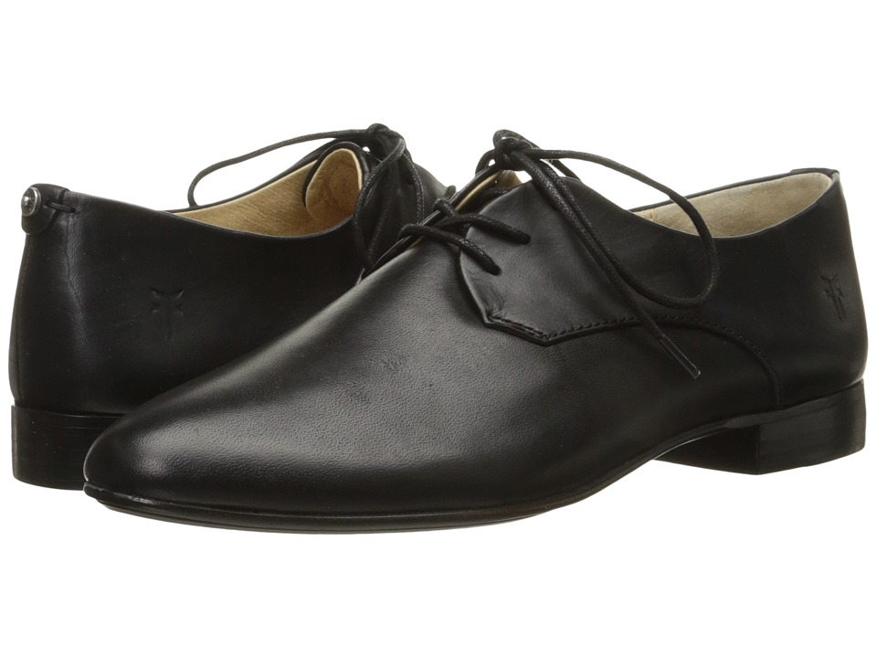 Frye - Tracy Oxford (Black Antique Pull Up) Women's Lace up casual Shoes