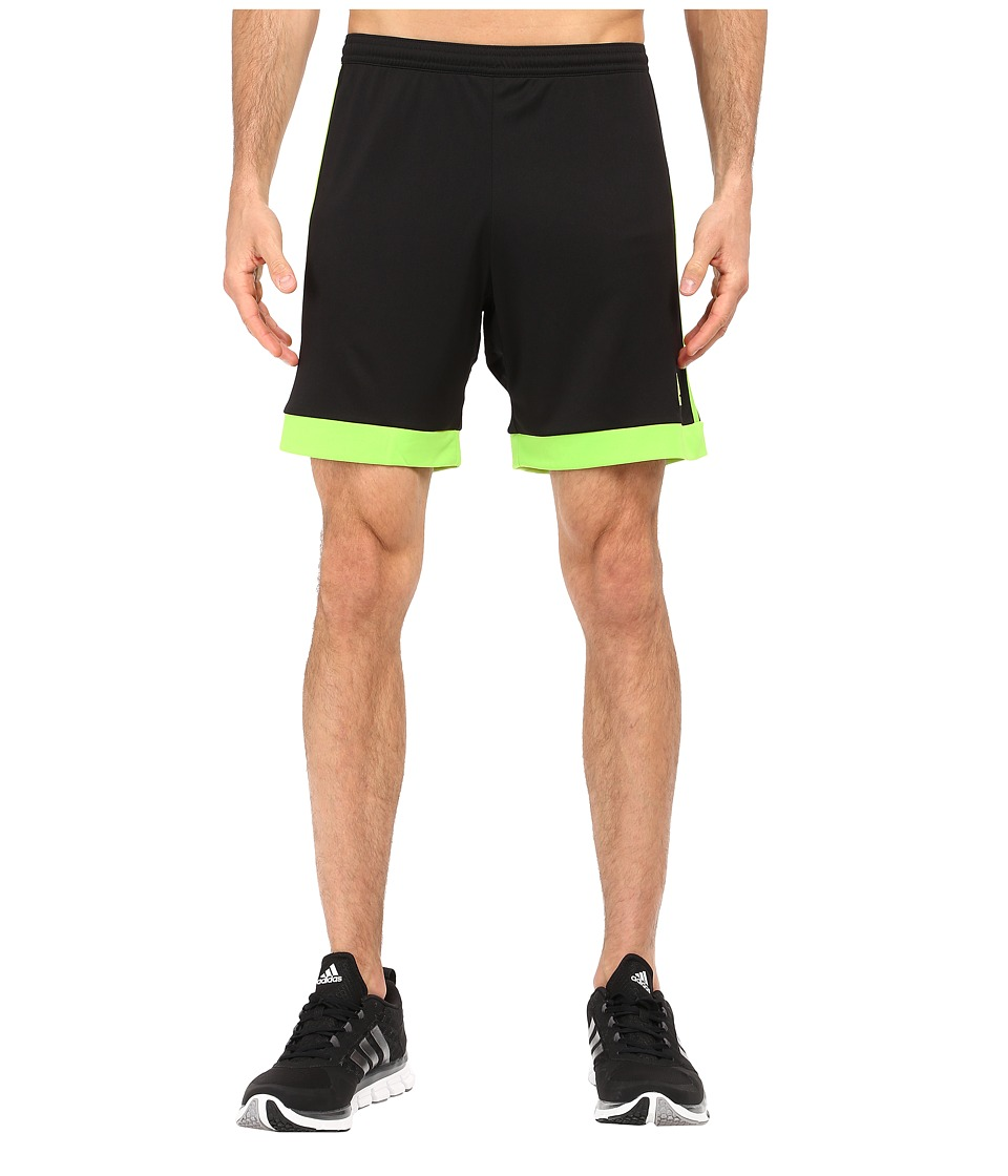 adidas - Tastigo 15 Dry Dye Short (Black/Semi Solar Slime) Men's Shorts